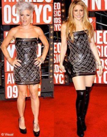 Les stars portent les mêmes tenues 3 : Pink et Shakira !