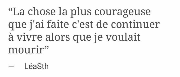 La chose la plus courageuse...