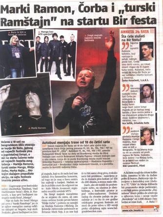 maNga - Presse (Serbie)