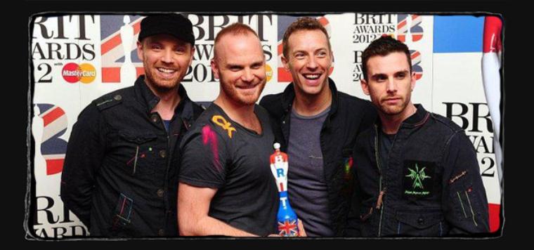 Coldplay récompensé aux Brits awards  pour meilleur groupe Britannique !