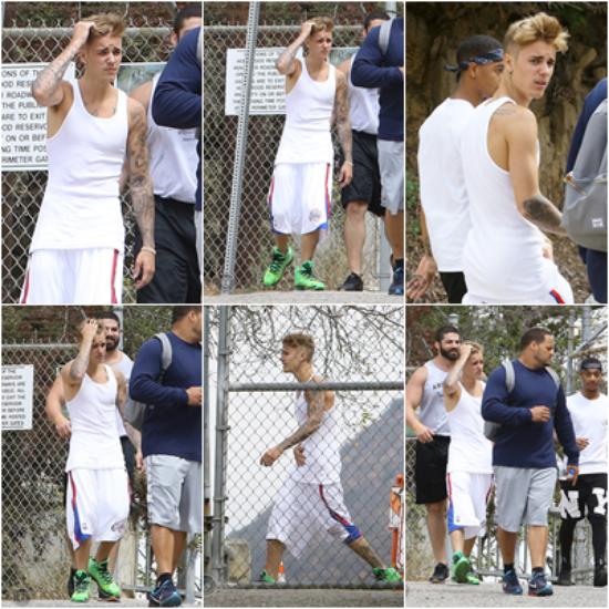 LE 10/08 - Justin a pris des photos avec des fans alors qu'il quittait un studio d'enregistrement à Los Angeles !