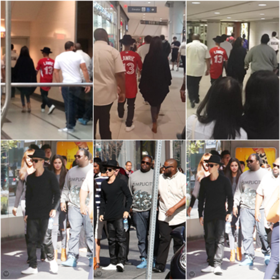 LE 06/09 - Justin et Selena ont été vu faisant du shopping à Toronto puis plus tard ils ont été aperçut alors qu'ils retournaient à leur hôtel !