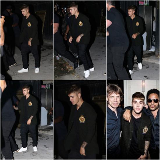 LE 01/10, Justin a été vu dans Paris avec son père, et après il c'est rendu au VIP Room!