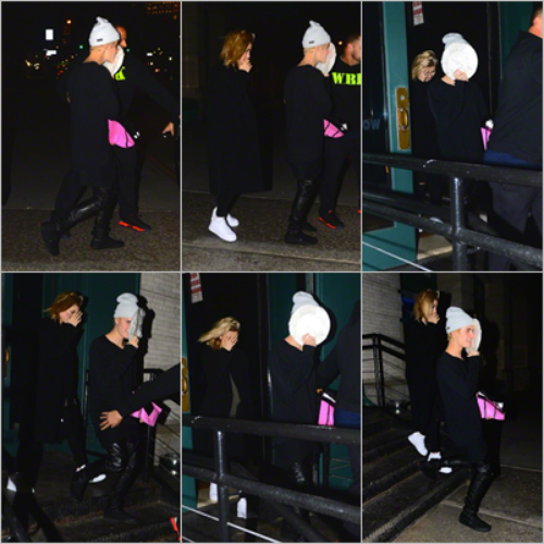 LE 26/12 - Justin a été vu quittant un restaurant avec Hailey Baldwin à New York City!