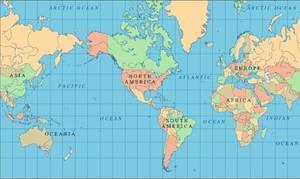 Étrange -  Un autre point de vue de  la carte du monde    :