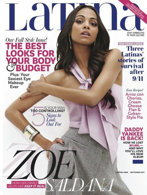 Zoe saldana cover Latina september 2011