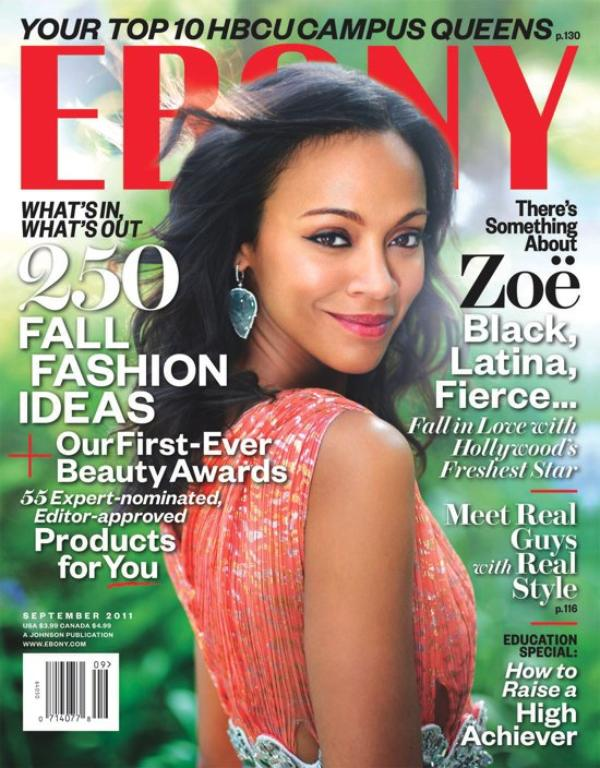 Zoe Saldana covers Ebony magazine's september 2011 issue + behind the scenes vidéo