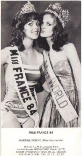 Martine Robine - Miss France 1984