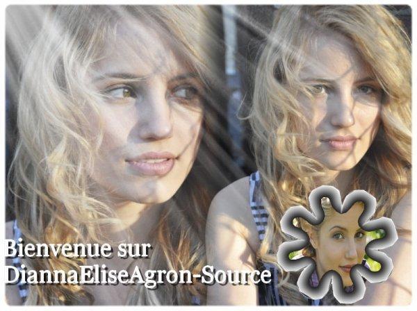 Bienvenue sur DiannaEliseAgron-Source, ta nouvelle source d'actualité sur la belle blonde de Glee !