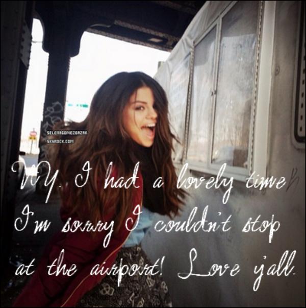 *12/03/14. Selena à été vue à l'Airport de JFK pour embarquer à New York. + Nouvelles photos personnelles, Sel' avec des fans, de nouvelle photo poster par Selena sur les réseaux sociaux. Top ou Flop ?