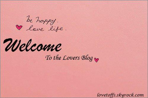 Welcome To The Lovers Blog