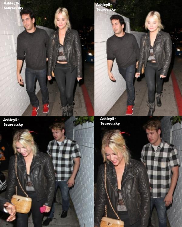 26/06/12 : Ashley a été photographiée alors qu'elle quittait le Château Marmont aux côtés de l'acteur Chord Overstreet ainsi que Ryan