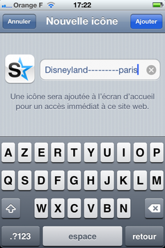 disneyland---------paris s'instale sur iPhone !!!