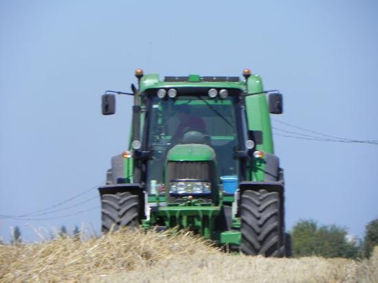 Pressage de la paille de blé