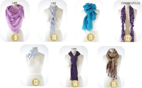 Différentes manières de mettre un foulard