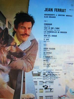 1971) Jean FERRAT- Je vous aime (photo recto-verso)