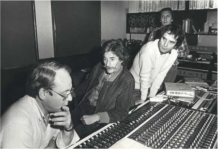 Jean FERRAT avec Alain GORAGUER et Gérard MEYS en studio (1974)
