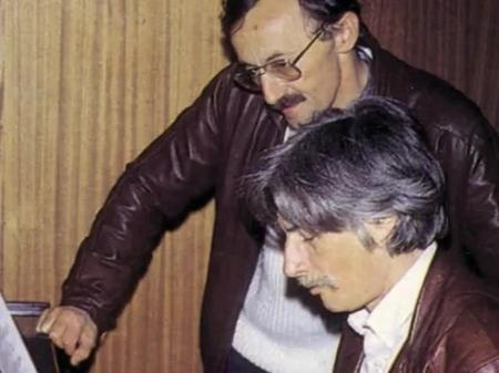 Jean FERRAT et Guy THOMAS en studio (1980)