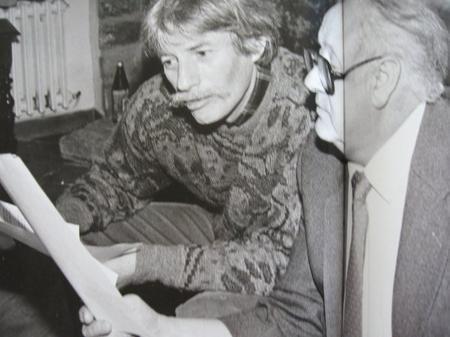 Jean FERRAT et Alain GORAGUER peaufine des arrangements musicaux (1985)