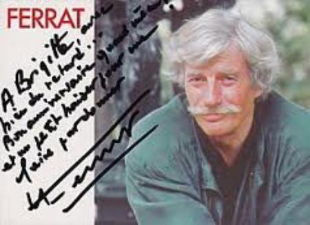 Autographe de Jean FERRAT (1995)