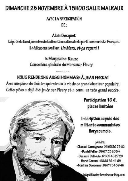Hommage à Jean FERRAT le 28 Novembre 2010 à Morsang-Fleury (Nord)