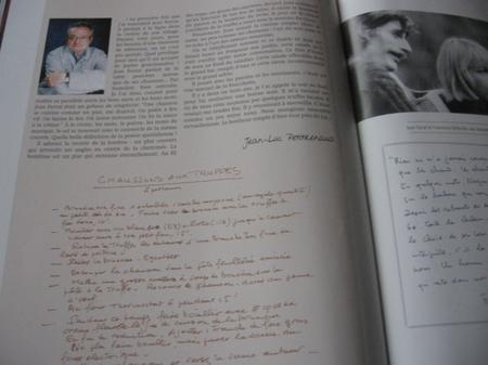 Hommage de Jean-Luc POITRENAUD (Chef cuisinier) à Jean FERRAT   en 2010
