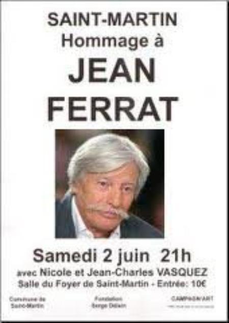"""Affiche d'un spectacle """" Hommage à Jean FERRAT (2 juin 2013)"""