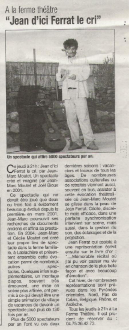 """2008 ) Article de presse """"La Tribune """" (Septembre 2008)"""