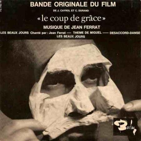 """1962 - Jean FERRAT compositeur de la bande originale du film """" Le coup de grâce """""""