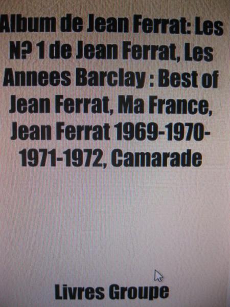 Liste d'albums de Jean FERRAT ayant subit la censure