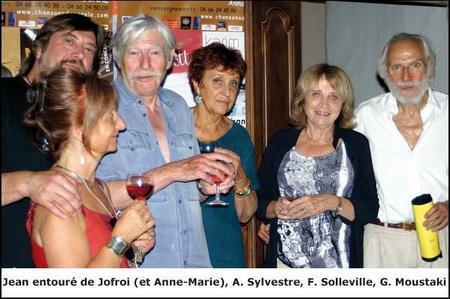 Jean FERRAT avec Georges MOUSTAKI, Francesca SOLLEVILLE,Anne SYLVESTRE, et Anne-Marie et Joffroy (2005)