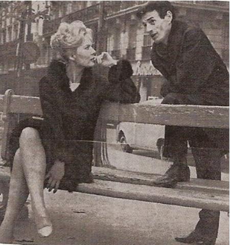 1965) Jean FERRAT et Corinne MARCHAND à Paris