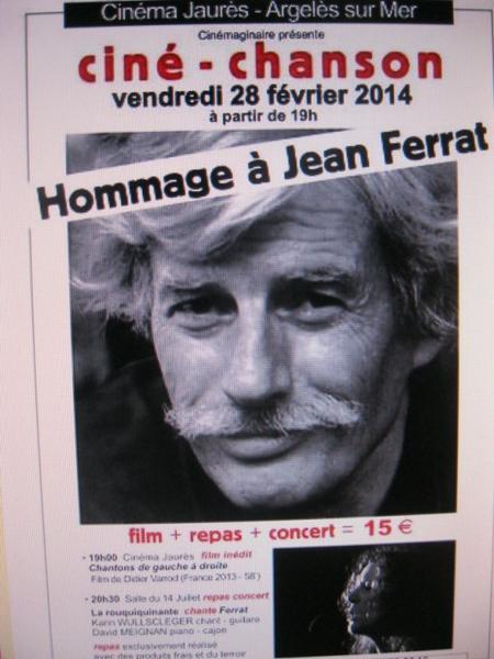 2014)  Cinéma Jaurès Hommage à Jean FERRAT le 28 février 2014