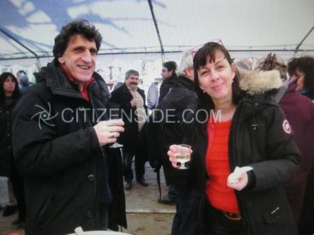 """2013) DINO et SHIRLEY présent à l'inauguration de la  """"Maison Jean FERRAT """" - le 12 Mars 2013"""