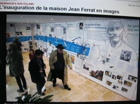 """2013) Inauguration de la  """" Maison Jean FERRAT """" -  Le rez-de-Chaussée -  le 12 Mars 2013 à Antraigues (07530)"""