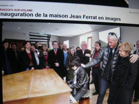 """2013) Inauguration de la  """" Maison Jean FERRAT """" -  L'auditorium (1er étage) -  le 12 Mars 2013 à Antraigues (07530)"""