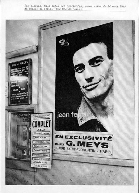 1966) Affiche pour le spectacle du 24 Mars 1966 à Liège