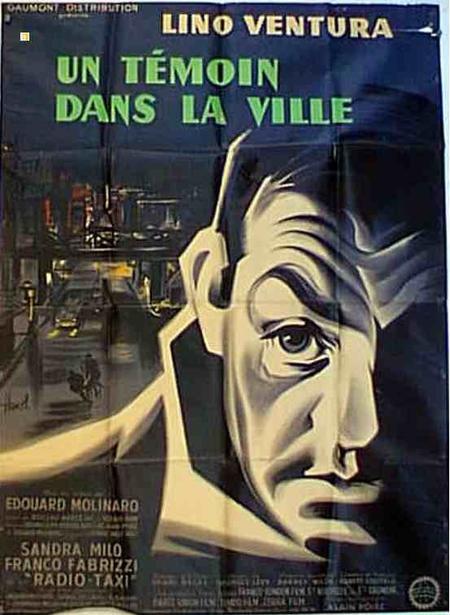"""1959 - """" Un témoin dans la ville """" film d'Edouard Molinaro - avec participation de Jean FERRAT"""