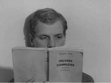 "1962) Photo du film "" Vivre sa vie "" de Jean-Luc GODART avec Anna KARINA et Jean FERRAT"