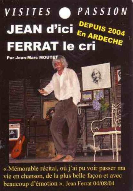 2014) '' Jean d'ici FERRAT le cri ''  affiche