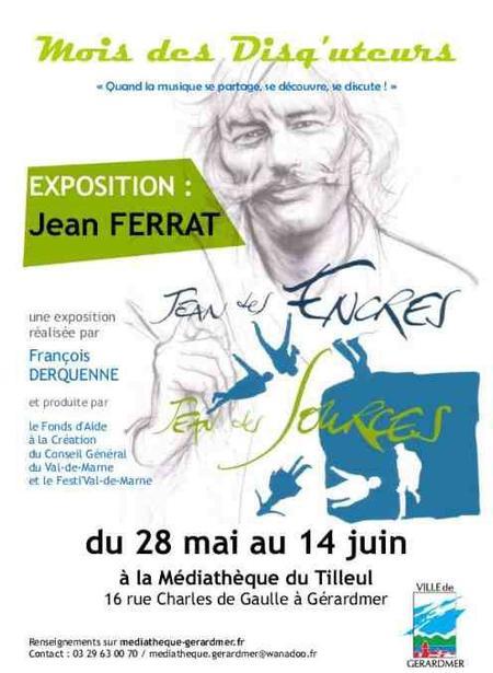 """2014) Expostion """" Jean des Encres Jean des Sources """" du 28 Mai au 14 Juin 2014 à Gérardmer (88400)"""
