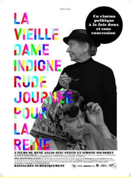 """1965)  Affiche du film """" La vieille dame indigne """" dont Jean FERRAT composa la musique"""