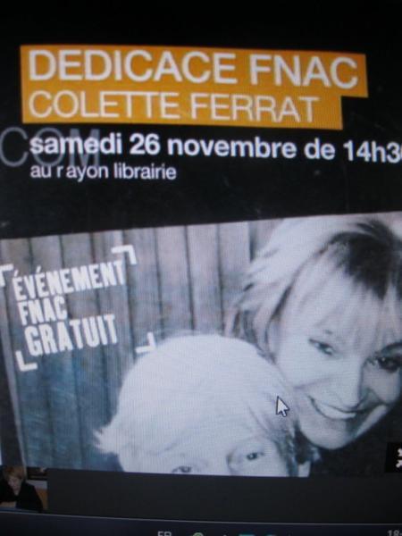 2011) Colette FERRAT dédicace à la FNAC (26 Novembre 2011)