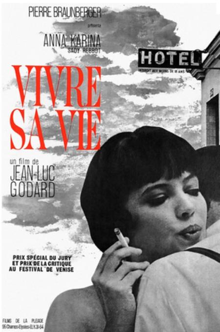 """1962) Affiche du film ' Vivre sa vie """" avec Anna KARINA et Jean FERRAT"""