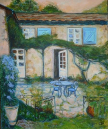 """2013) Exposition de peintures sur les chansons de FERRAT à Boussy-Saint-Antoine (91800) le 7 Décembre 2013 """" La maison de Jean FERRAT à Antraigues """""""