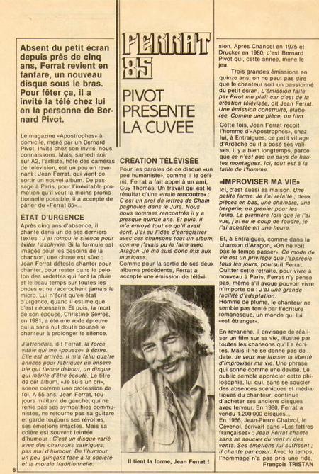 1985) Article de presse