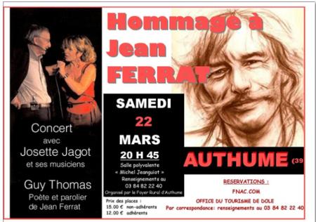 2014) Hommage à Jean FERRAT à ANTHUME (39100) le 22mars 2014