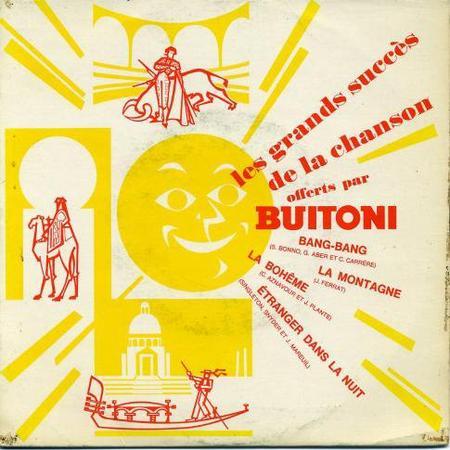 """1968) Disque Pub Buitoni  """" Jean FERRAT - La montagne """""""