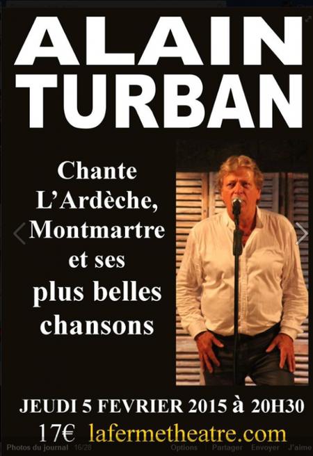 2015) Alain TURBAN à la ferme Théâtre à Lablachère (07230) le 5 février 2015