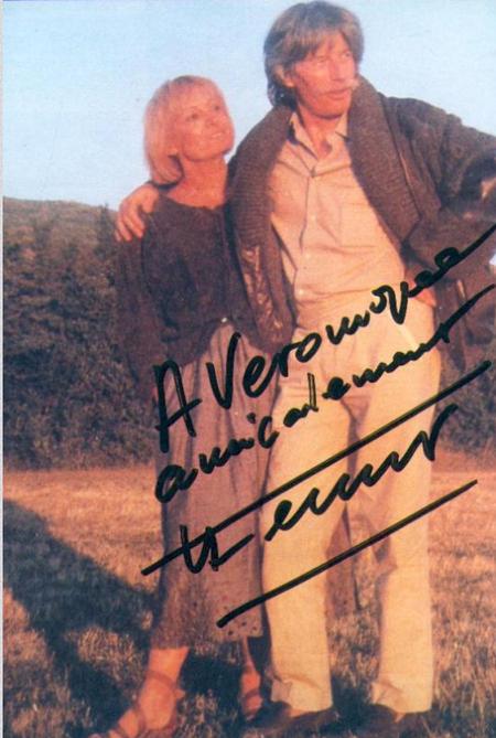 1985) Autographe de Jean FERRAT pour Véronique sa fille adoptive